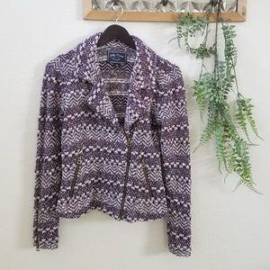 Lucky Brand Knit Moto Jacket